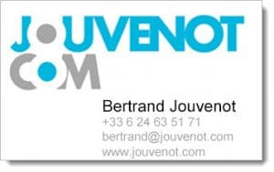 Carte de visite de Bertrand Jouvenot