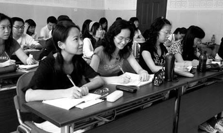 Étudiants chinois lors d'un cours donné par de Bertrand Jouvenot